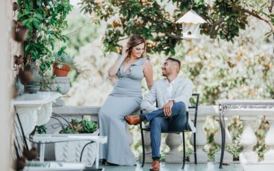 Elegant Estate Engagement Session at Robinson Gardens